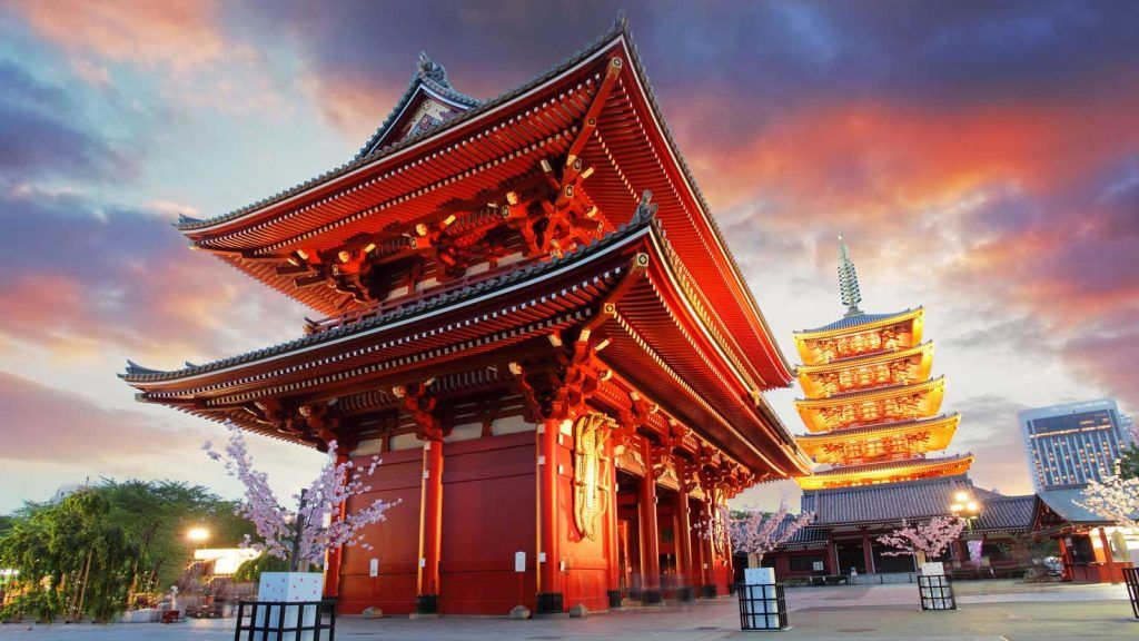 Sensoji-ji templet i Tokyo.